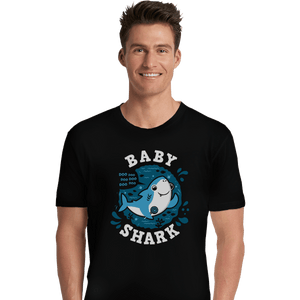 Shirts Premium Shirts, Unisex / Small / Black Cute Baby Shark
