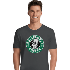 Shirts Premium Shirts, Unisex / Small / Charcoal Mr. Sparkle Coffee