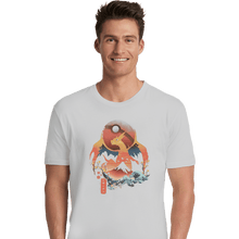 Load image into Gallery viewer, Shirts Premium Shirts, Unisex / Small / White Fire Ninja