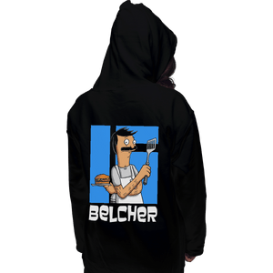 Shirts Pullover Hoodies, Unisex / Small / Black Belcher