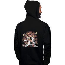 Load image into Gallery viewer, Shirts Pullover Hoodies, Unisex / Small / Black Make It Rain