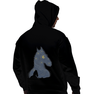 Shirts Pullover Hoodies, Unisex / Small / Black Hollywoo Starry Night