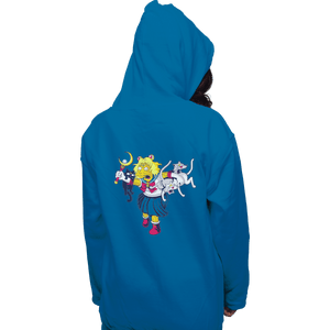 Shirts Zippered Hoodies, Unisex / Small / Royal Blue Moon Cat Lady
