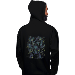 Shirts Zippered Hoodies, Unisex / Small / Black Fireflies