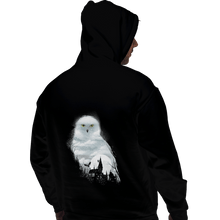 Load image into Gallery viewer, Shirts Pullover Hoodies, Unisex / Small / Black Magical Owl