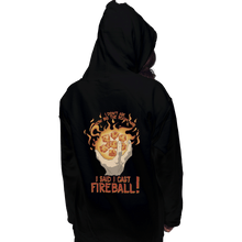 Load image into Gallery viewer, Shirts Zippered Hoodies, Unisex / Small / Black I Cast Fireball