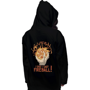 Shirts Zippered Hoodies, Unisex / Small / Black I Cast Fireball