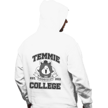 Load image into Gallery viewer, Shirts Zippered Hoodies, Unisex / Small / White Temmie College