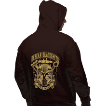 Load image into Gallery viewer, Shirts Zippered Hoodies, Unisex / Small / Dark Chocolate Beskar Blacksmith
