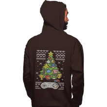 Load image into Gallery viewer, Shirts Pullover Hoodies, Unisex / Small / Dark Chocolate A Classic Gamers Christmas