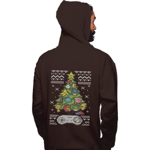 Shirts Pullover Hoodies, Unisex / Small / Dark Chocolate A Classic Gamers Christmas