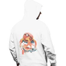 Load image into Gallery viewer, Shirts Pullover Hoodies, Unisex / Small / White Fire Ninja