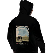 Load image into Gallery viewer, Shirts Pullover Hoodies, Unisex / Small / Black Epona Visit Hyrule