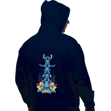 Load image into Gallery viewer, Shirts Zippered Hoodies, Unisex / Small / Navy Alien Mood Totem