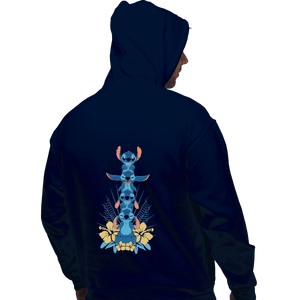 Shirts Zippered Hoodies, Unisex / Small / Navy Alien Mood Totem