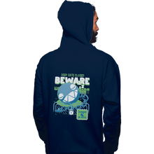 Load image into Gallery viewer, Shirts Zippered Hoodies, Unisex / Small / Navy Beware Of Chomp Chomp