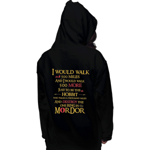 Shirts Zippered Hoodies, Unisex / Small / Black 500 Miles