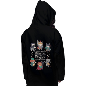Shirts Zippered Hoodies, Unisex / Small / Black Dungeons & Doggos
