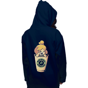 Shirts Zippered Hoodies, Unisex / Small / Navy Animal Coffee