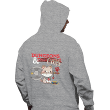 Load image into Gallery viewer, Shirts Pullover Hoodies, Unisex / Small / Sports Grey Dungeons And Cats