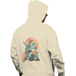 Shirts Zippered Hoodies, Unisex / Small / White Ukiyo Ocarina