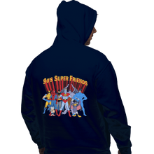 Load image into Gallery viewer, Shirts Zippered Hoodies, Unisex / Small / Navy 90s Super Friends