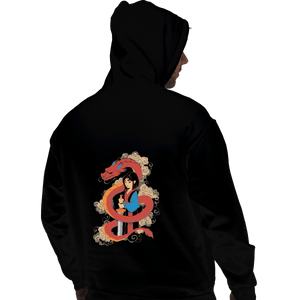 Shirts Zippered Hoodies, Unisex / Small / Black Mulan And The Dragon