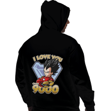 Load image into Gallery viewer, Shirts Pullover Hoodies, Unisex / Small / Black I Love You Over 9000