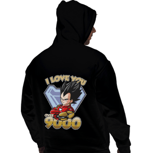 Shirts Pullover Hoodies, Unisex / Small / Black I Love You Over 9000