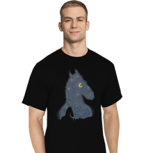 Load image into Gallery viewer, Shirts T-Shirts, Tall / Large / Black Hollywoo Starry Night