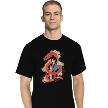 Load image into Gallery viewer, Shirts T-Shirts, Tall / Large / Black Mulan And The Dragon