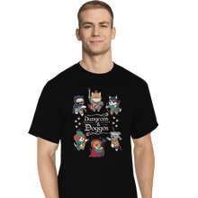 Load image into Gallery viewer, Shirts T-Shirts, Tall / Large / Black Dungeons & Doggos