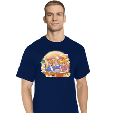 Load image into Gallery viewer, Shirts T-Shirts, Tall / Large / Navy Ramen Cart