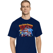Load image into Gallery viewer, Shirts T-Shirts, Tall / Large / Navy 90s Super Friends
