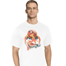 Load image into Gallery viewer, Shirts T-Shirts, Tall / Large / White Fire Ninja