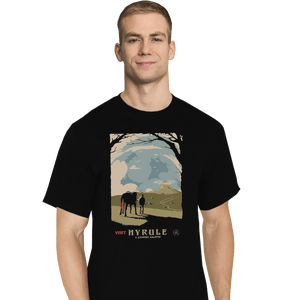 Shirts T-Shirts, Tall / Large / Black Epona Visit Hyrule