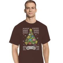 Load image into Gallery viewer, Shirts T-Shirts, Tall / Large / Black A Classic Gamers Christmas