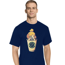 Load image into Gallery viewer, Shirts T-Shirts, Tall / Large / Navy Animal Coffee