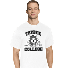 Load image into Gallery viewer, Shirts T-Shirts, Tall / Large / White Temmie College