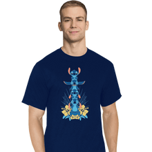 Load image into Gallery viewer, Shirts T-Shirts, Tall / Large / Navy Alien Mood Totem