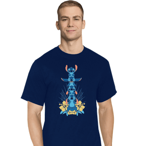 Shirts T-Shirts, Tall / Large / Navy Alien Mood Totem