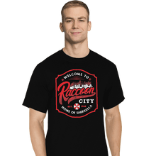 Load image into Gallery viewer, Shirts T-Shirts, Tall / Large / Black Raccoon City
