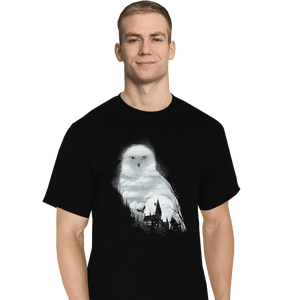Shirts T-Shirts, Tall / Large / Black Magical Owl
