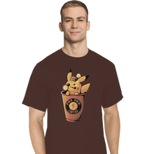 Load image into Gallery viewer, Shirts T-Shirts, Tall / Large / Black Pika Pika Coffee