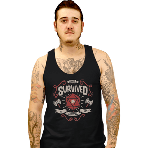 Shirts Tank Top, Unisex / Small / Black A Critical Hit
