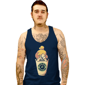Shirts Tank Top, Unisex / Small / Navy Animal Coffee