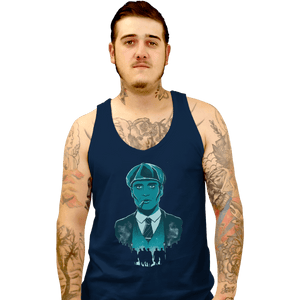 Shirts Tank Top, Unisex / Small / Navy The Leader