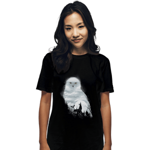Shirts T-Shirts, Unisex / Small / Black Magical Owl
