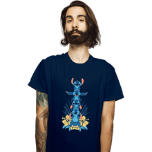 Load image into Gallery viewer, Shirts T-Shirts, Unisex / Small / Navy Alien Mood Totem