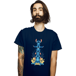 Shirts T-Shirts, Unisex / Small / Navy Alien Mood Totem